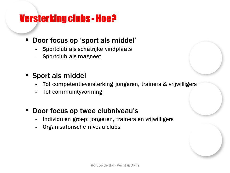 Versterking clubs - Hoe