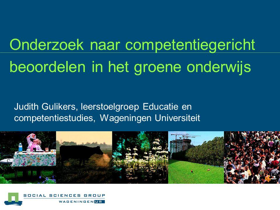 Onderzoek naar competentiegericht beoordelen in het groene onderwijs