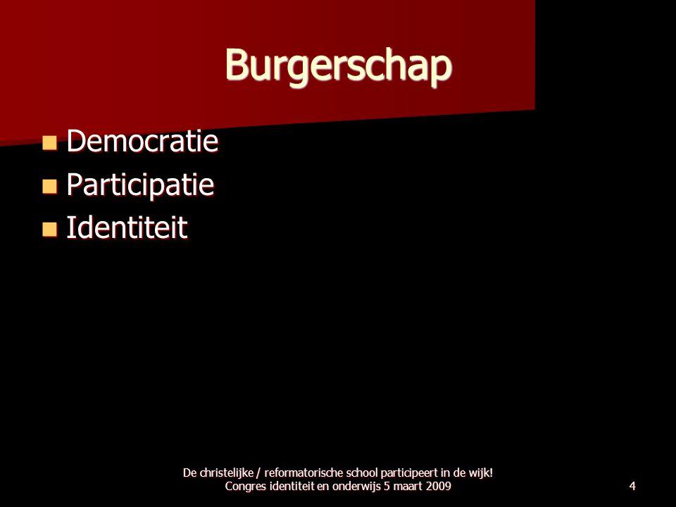 Burgerschap Democratie Participatie Identiteit