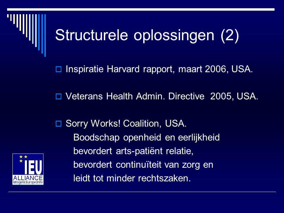 Structurele oplossingen (2)