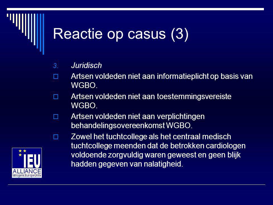 Reactie op casus (3) Juridisch