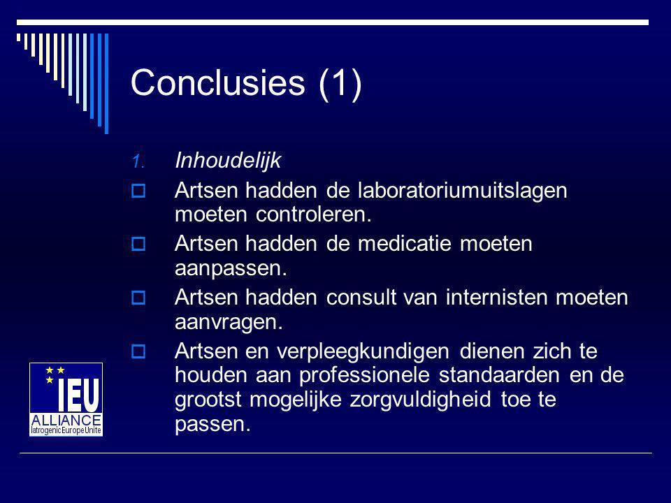 Conclusies (1) Inhoudelijk