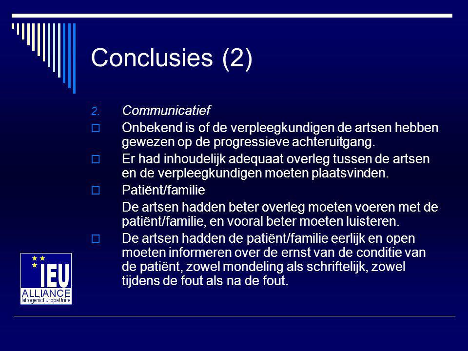 Conclusies (2) Communicatief