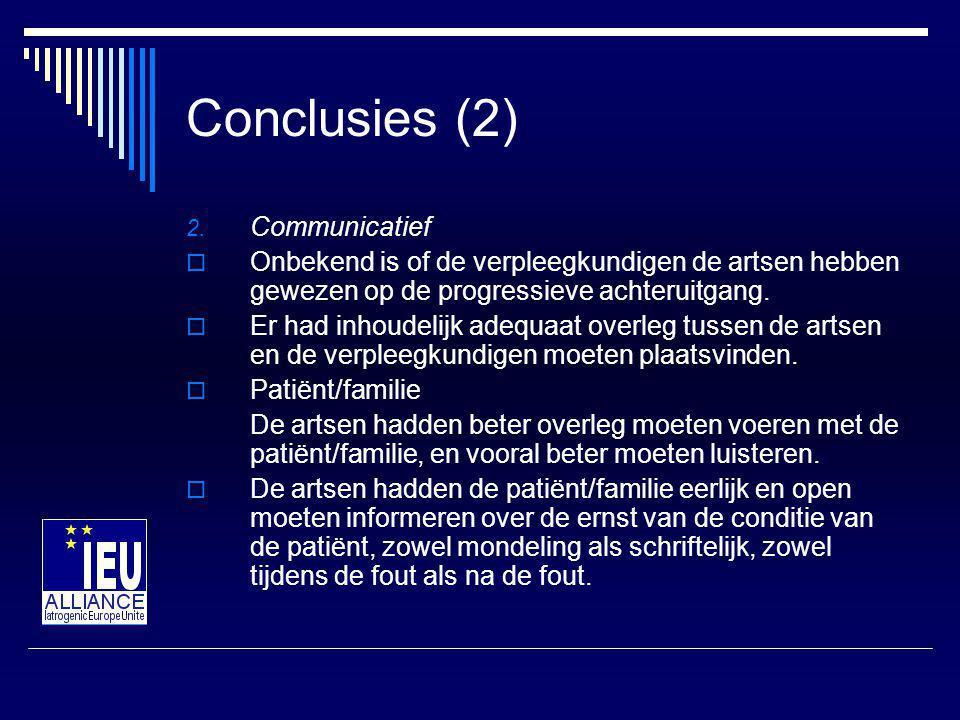 Conclusies (2) Communicatief
