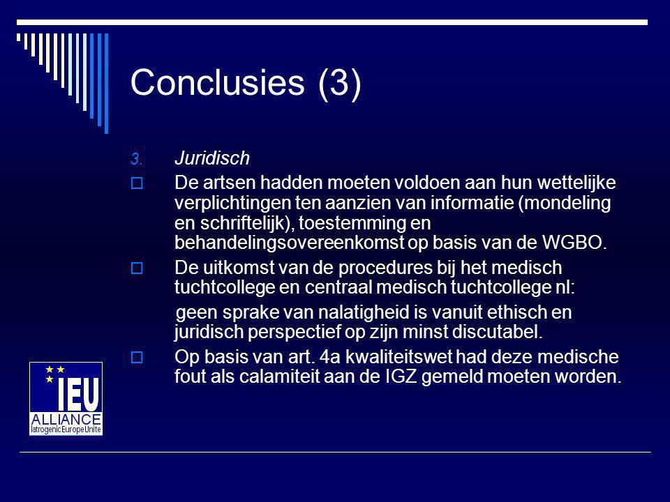 Conclusies (3) Juridisch