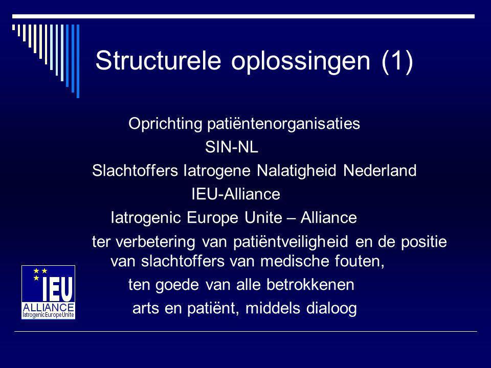 Structurele oplossingen (1)