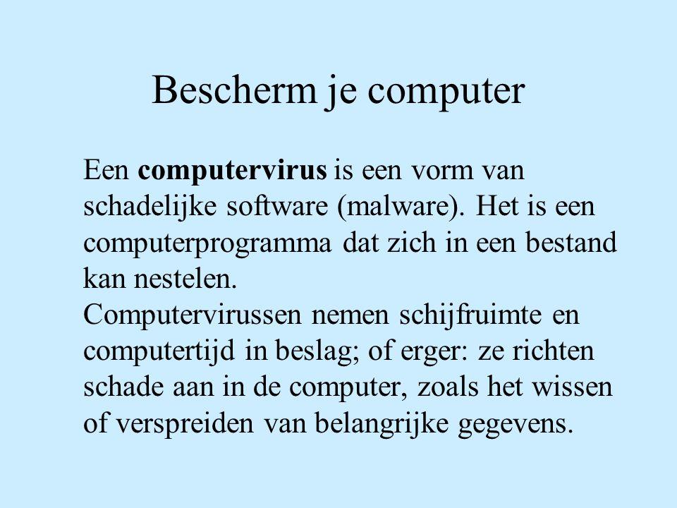 Bescherm je computer