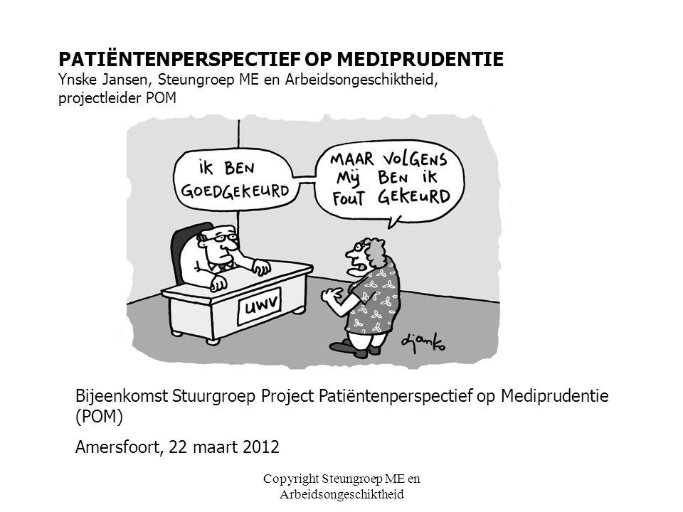 Copyright Steungroep ME en Arbeidsongeschiktheid