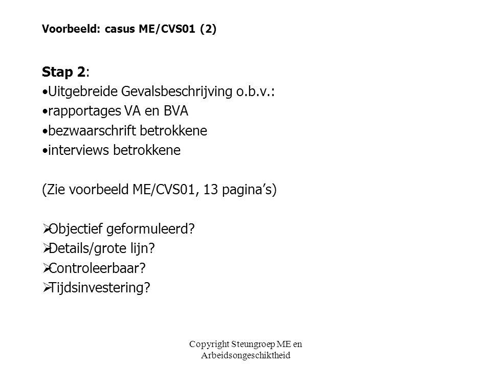 Voorbeeld: casus ME/CVS01 (2)