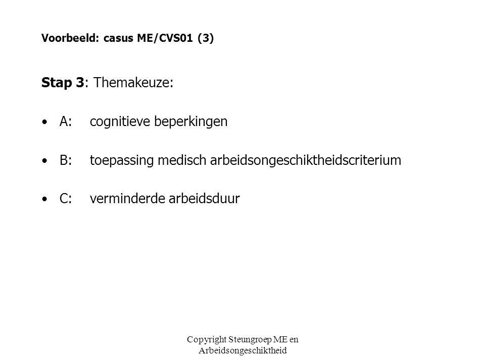 Voorbeeld: casus ME/CVS01 (3)