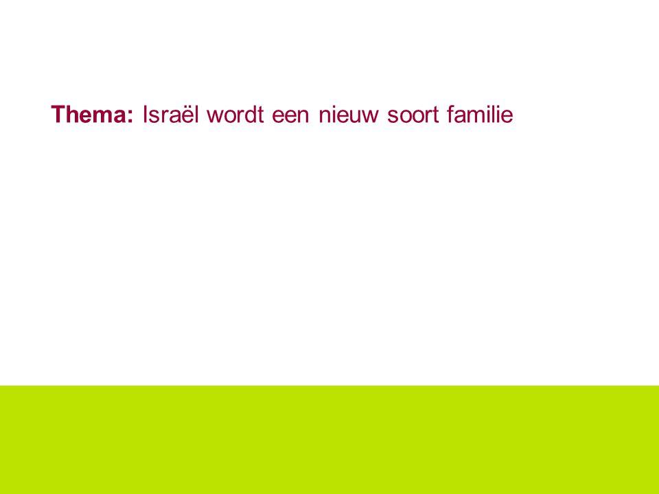 Thema: Israël wordt een nieuw soort familie