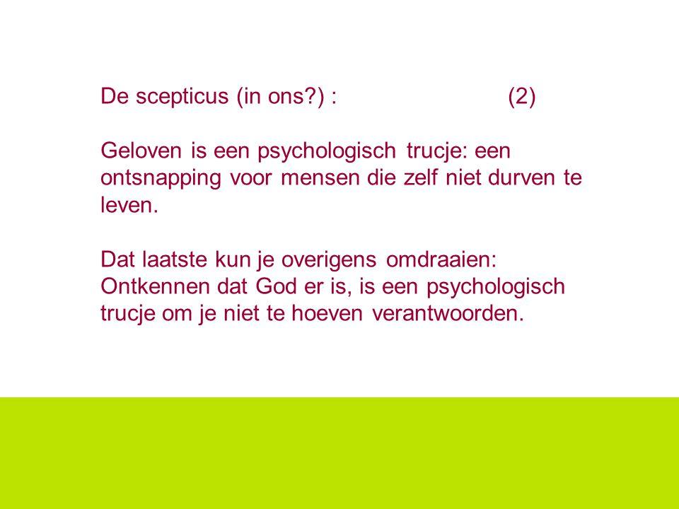 De scepticus (in ons ) : (2)