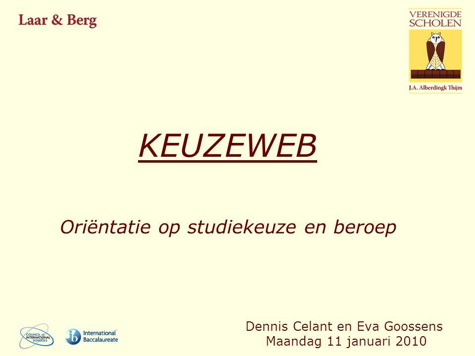 KEUZEWEB Oriëntatie op studiekeuze en beroep