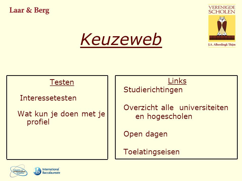 Keuzeweb Links Testen Studierichtingen Interessetesten