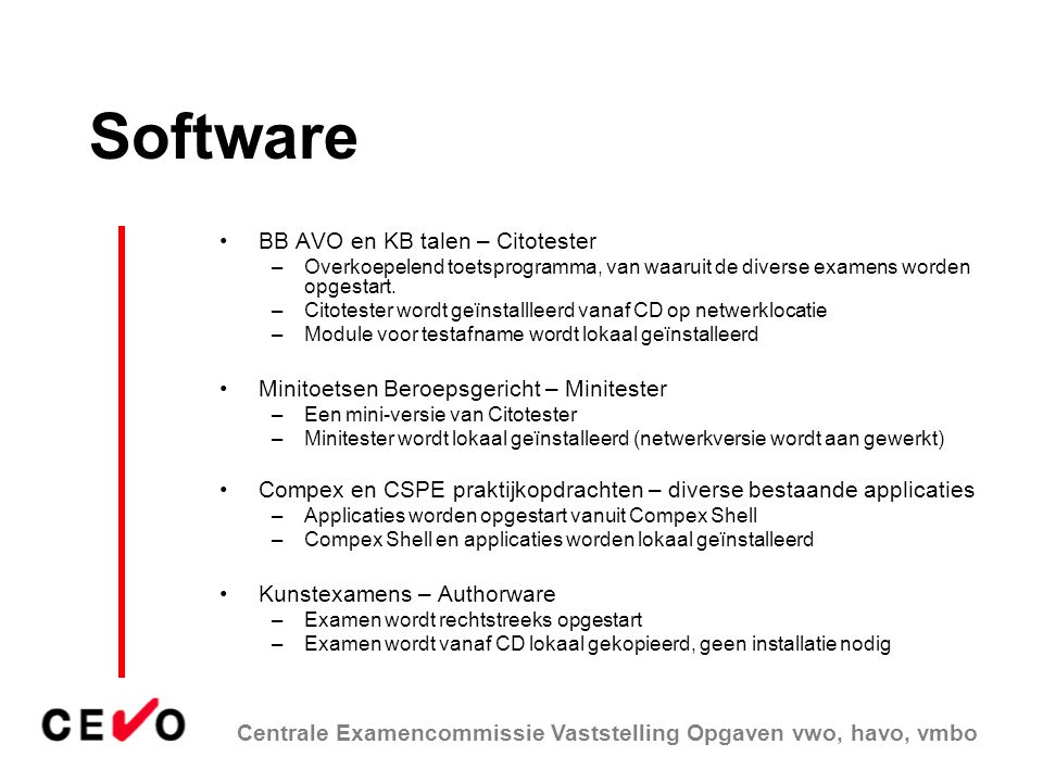 Software BB AVO en KB talen – Citotester