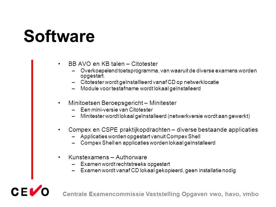 Software BB AVO en KB talen – Citotester