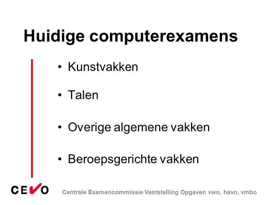 Huidige computerexamens