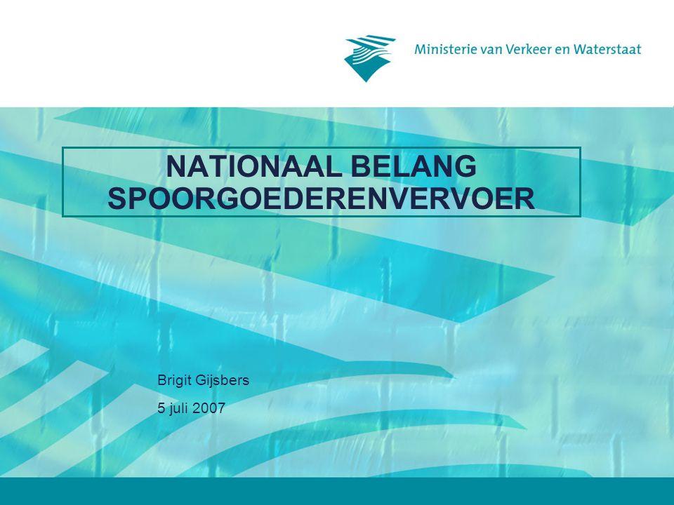 NATIONAAL BELANG SPOORGOEDERENVERVOER