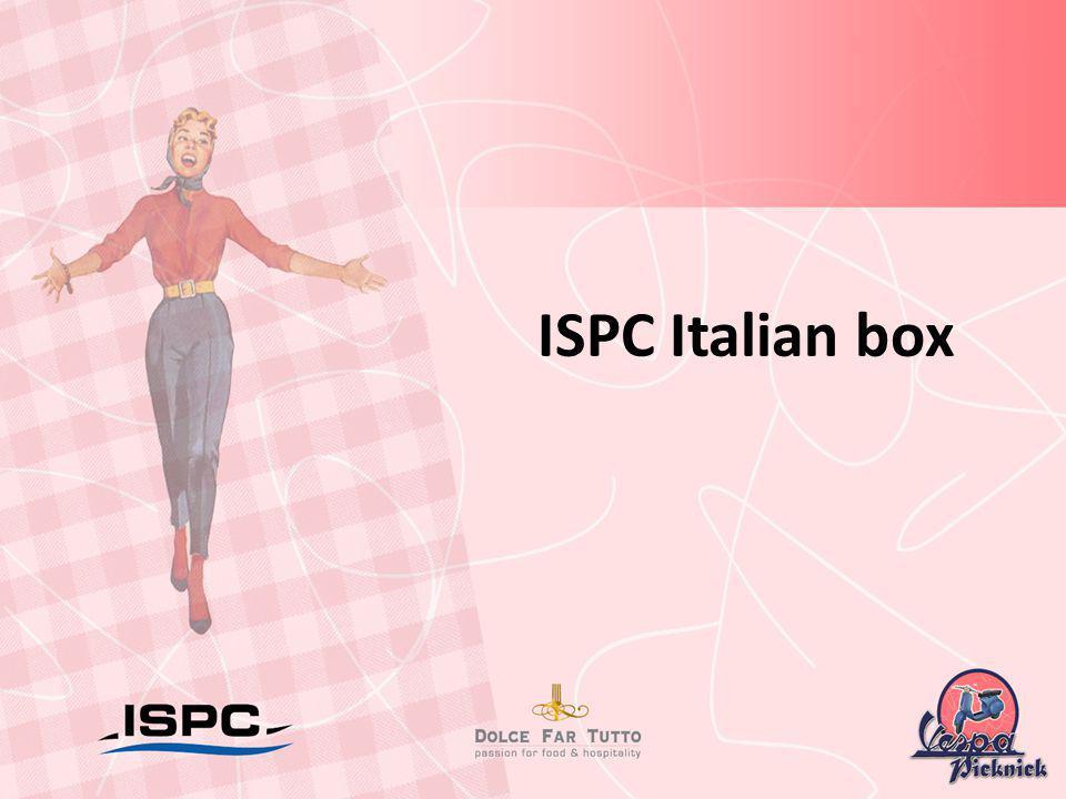 ISPC Italian box Pistache sponge cake met blauwe bessen