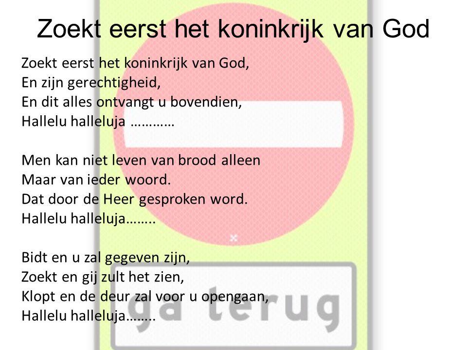 Zoekt eerst het koninkrijk van God