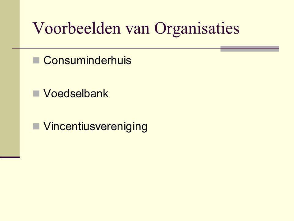 Voorbeelden van Organisaties