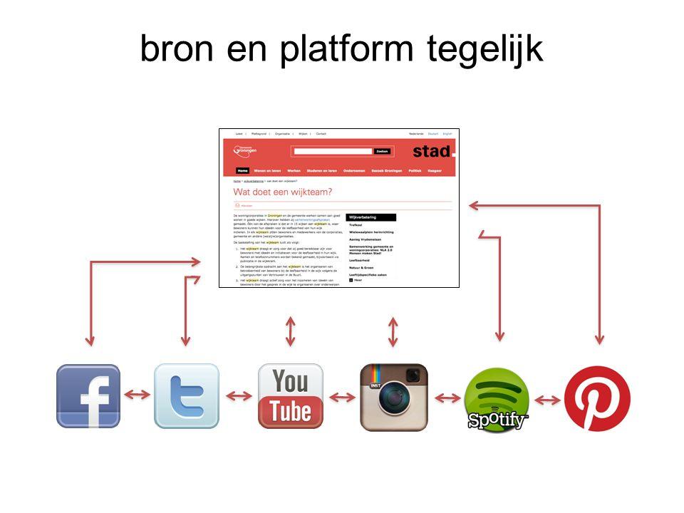 bron en platform tegelijk