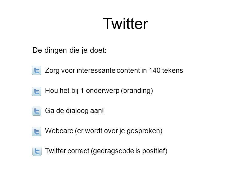 Twitter De dingen die je doet: