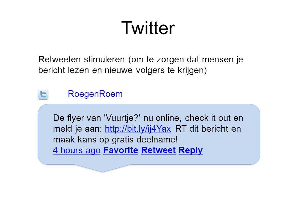 Twitter Retweeten stimuleren (om te zorgen dat mensen je bericht lezen en nieuwe volgers te krijgen)