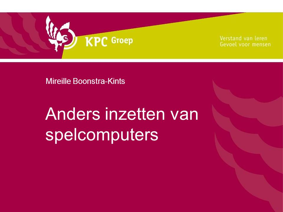 Anders inzetten van spelcomputers