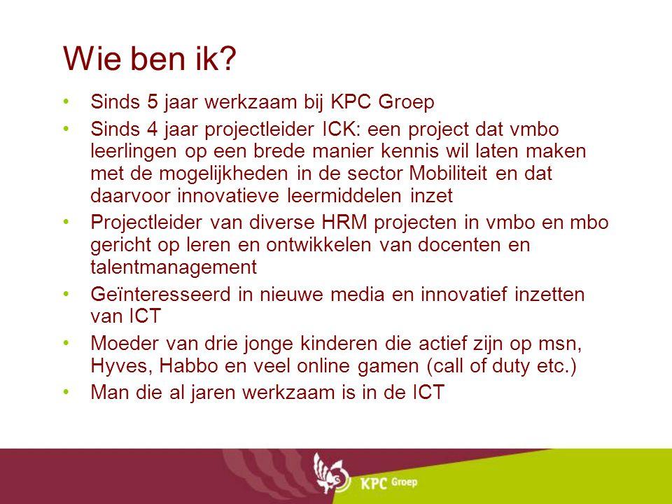 Wie ben ik Sinds 5 jaar werkzaam bij KPC Groep