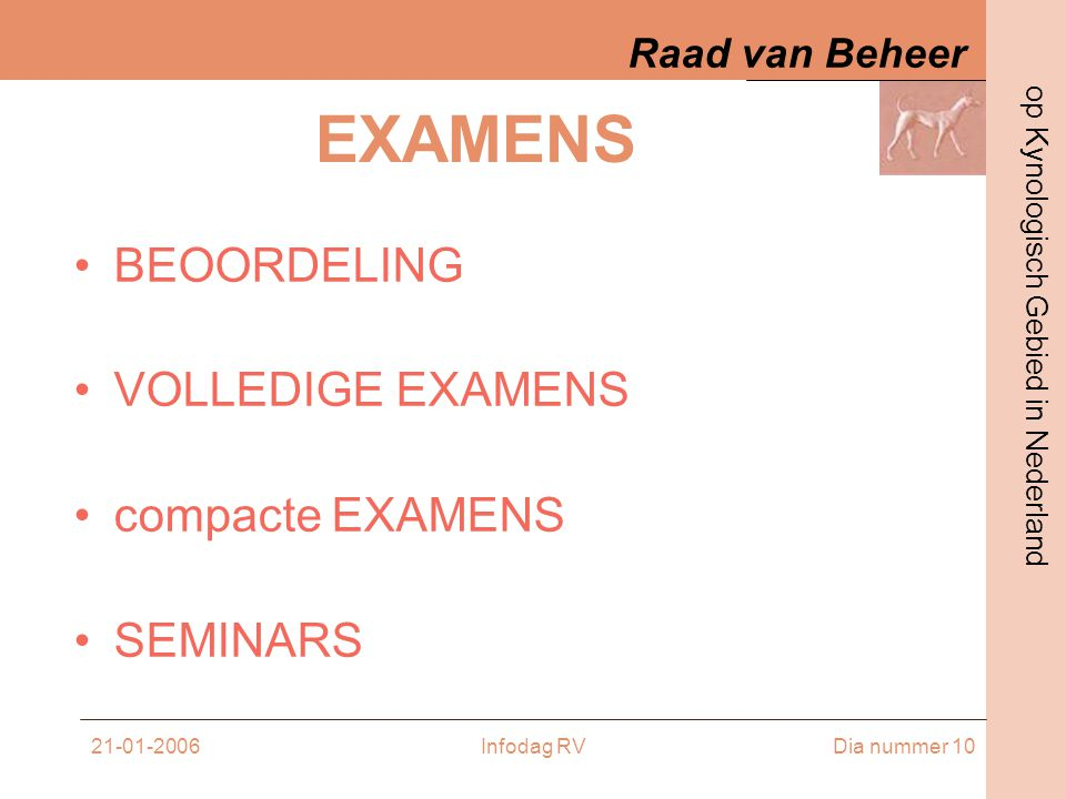 EXAMENS BEOORDELING VOLLEDIGE EXAMENS compacte EXAMENS SEMINARS
