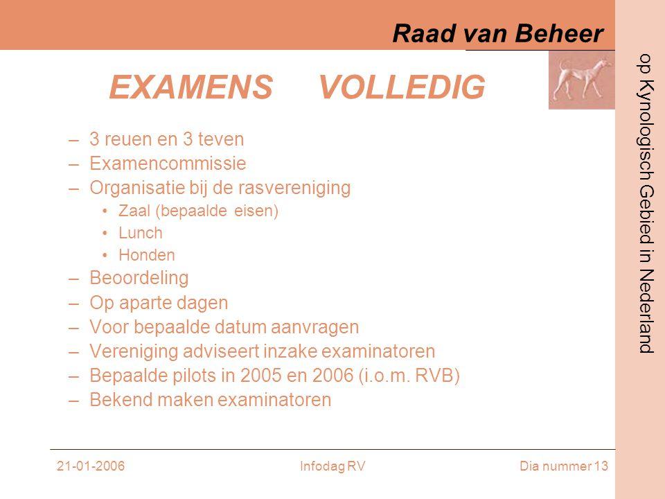 EXAMENS VOLLEDIG 3 reuen en 3 teven Examencommissie