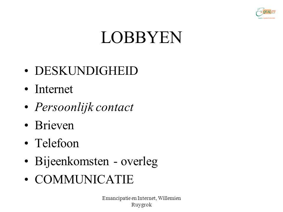 Emancipatie en Internet, Willemien Ruygrok