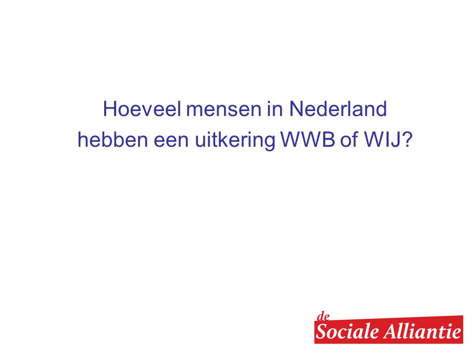 Hoeveel mensen in Nederland hebben een uitkering WWB of WIJ
