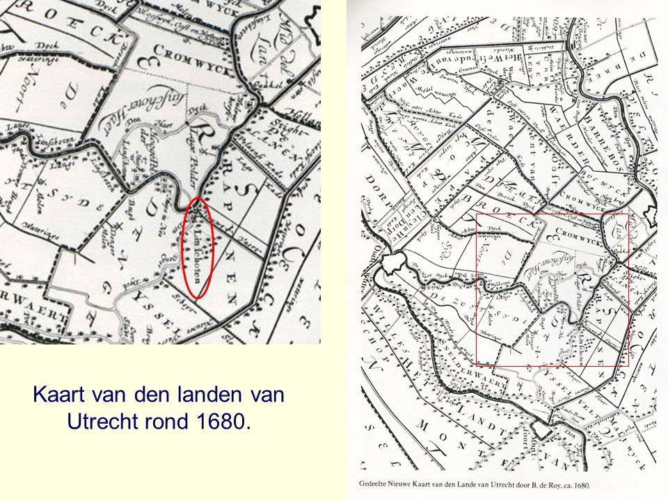 Kaart van den landen van Utrecht rond 1680.