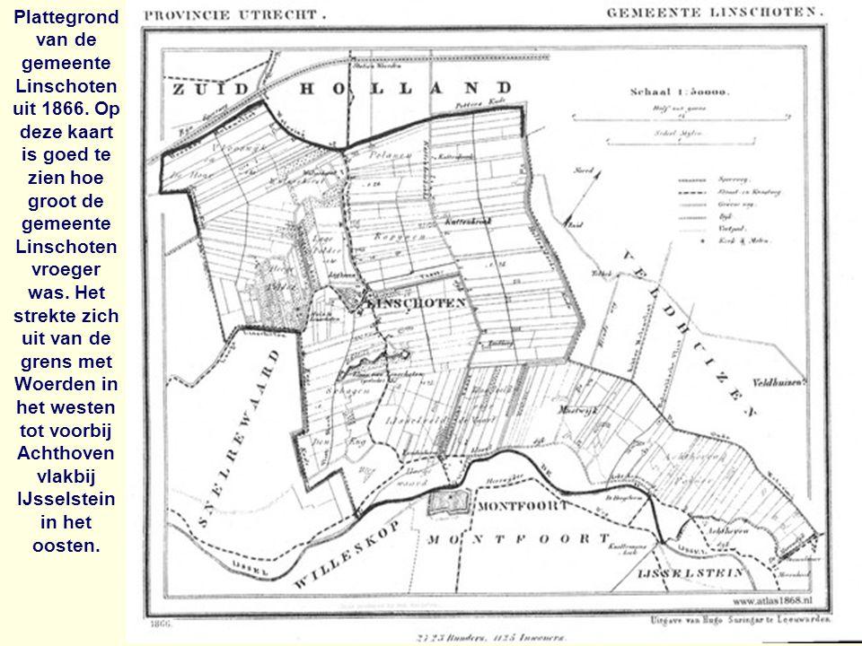 Plattegrond van de gemeente Linschoten uit 1866