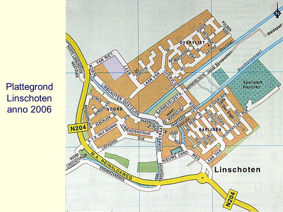 Plattegrond Linschoten anno 2006