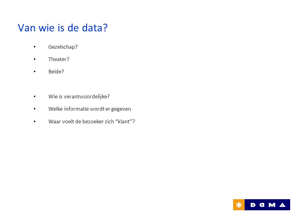 Van wie is de data Gezelschap Theater Beide