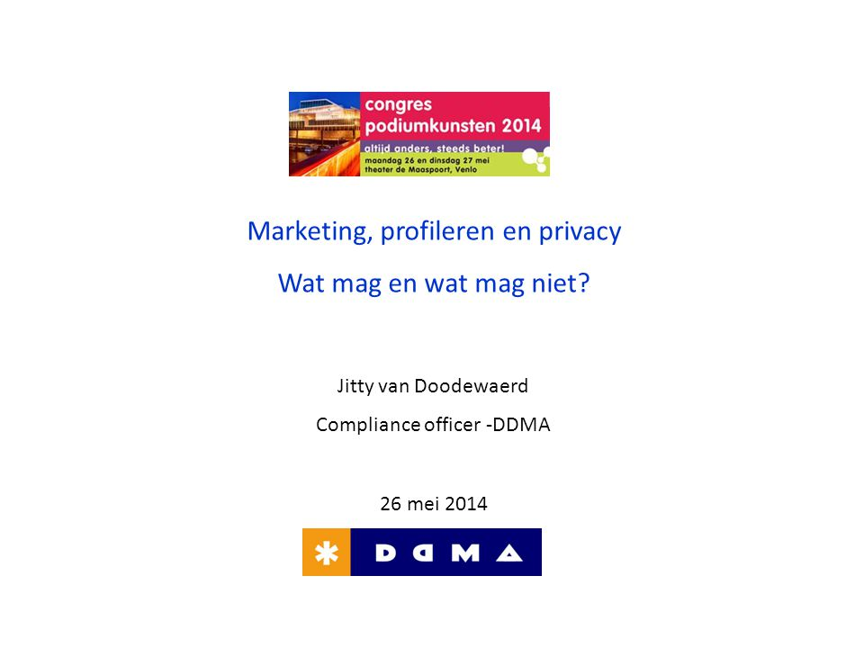 Marketing, profileren en privacy Wat mag en wat mag niet