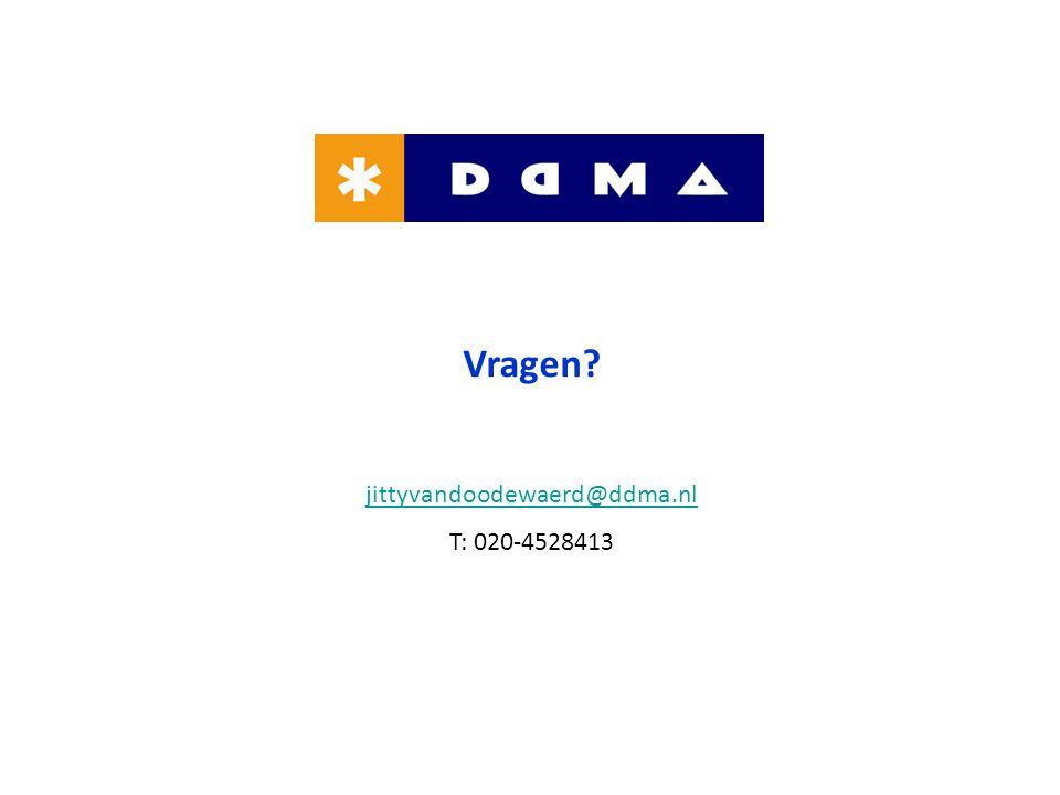 Vragen jittyvandoodewaerd@ddma.nl T: 020-4528413