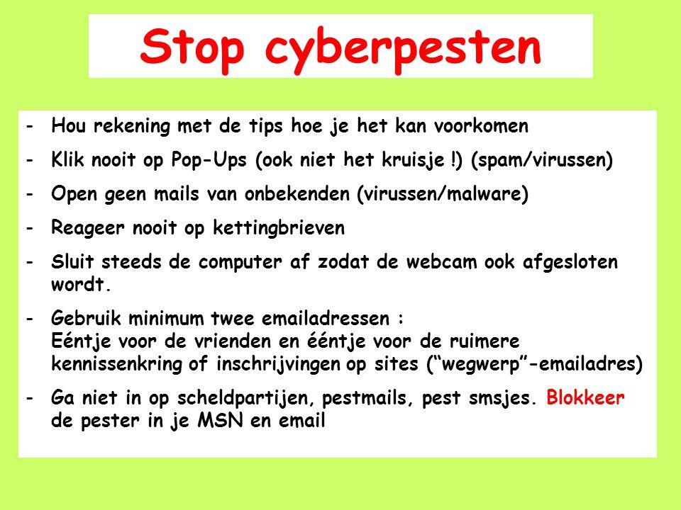Stop cyberpesten Hou rekening met de tips hoe je het kan voorkomen