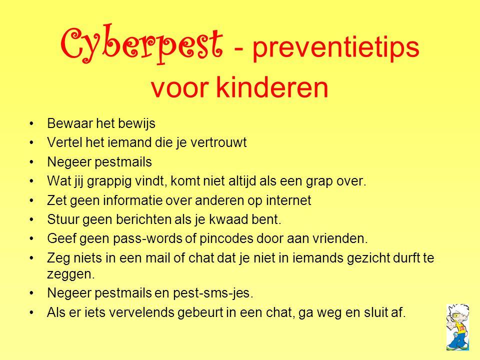 Cyberpest - preventietips voor kinderen