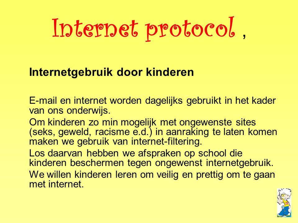 Internet protocol , Internetgebruik door kinderen