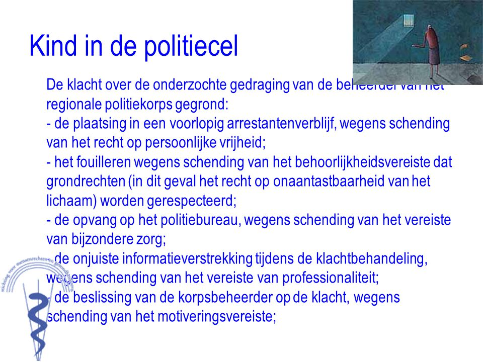 Kind in de politiecel