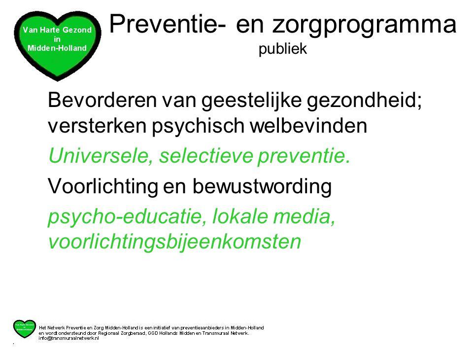 Preventie- en zorgprogramma publiek