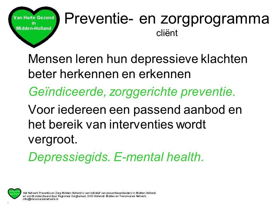 Preventie- en zorgprogramma cliënt