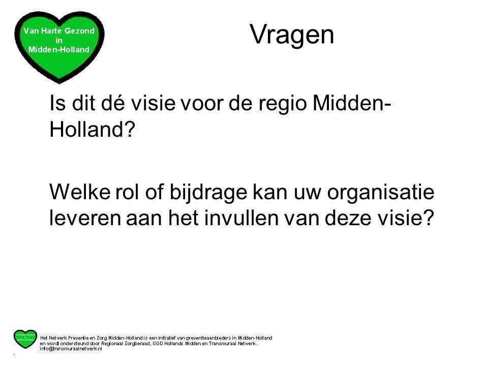 Vragen Is dit dé visie voor de regio Midden-Holland