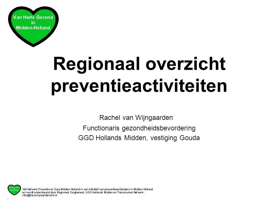 Regionaal overzicht preventieactiviteiten