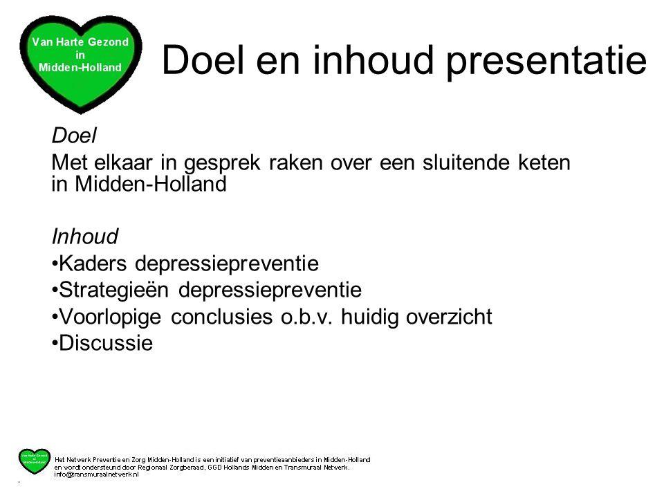 Doel en inhoud presentatie