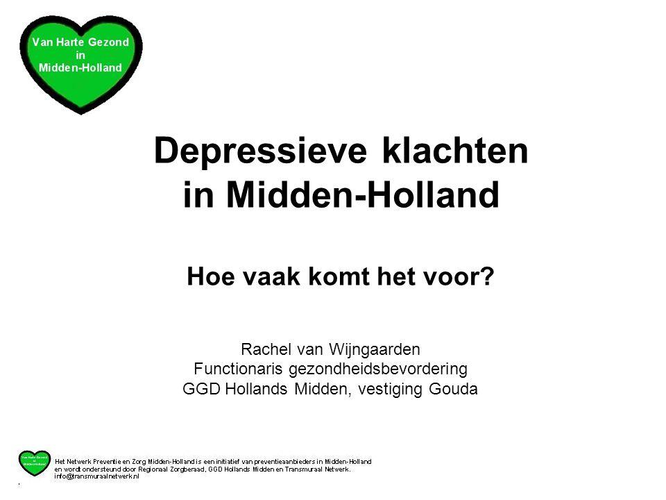 Depressieve klachten in Midden-Holland Hoe vaak komt het voor